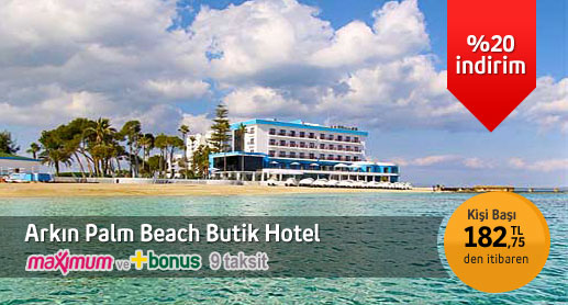 Arkın Palm Beach Otel Double Kal Single Öde